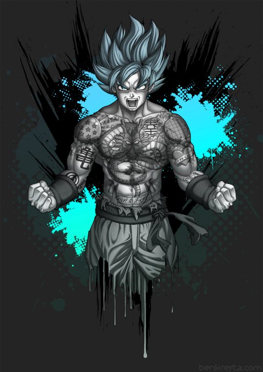 Tattooed Goku