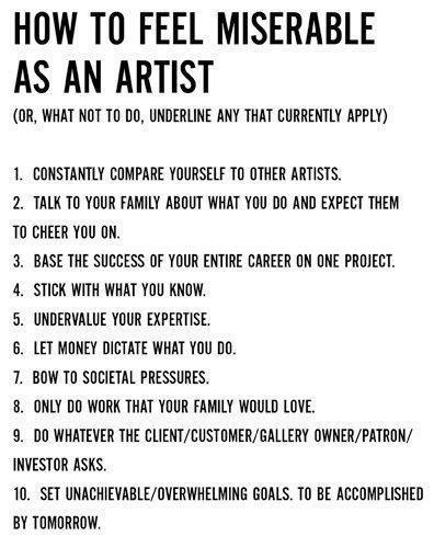 artistwoes