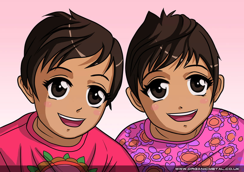 manga twin children