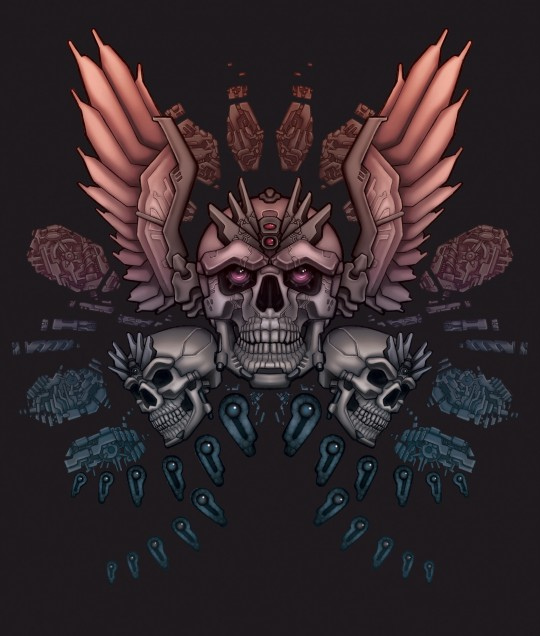 Skull and Wings