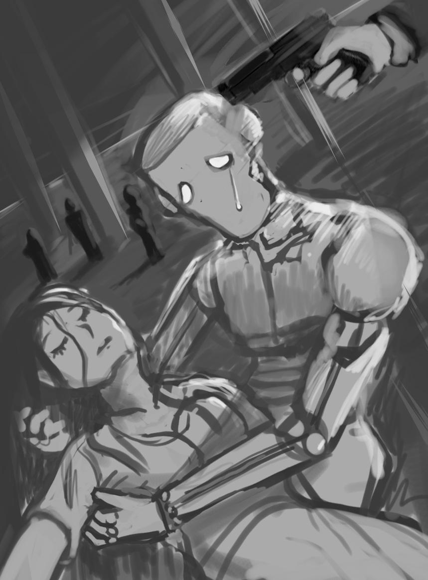 woman die robot