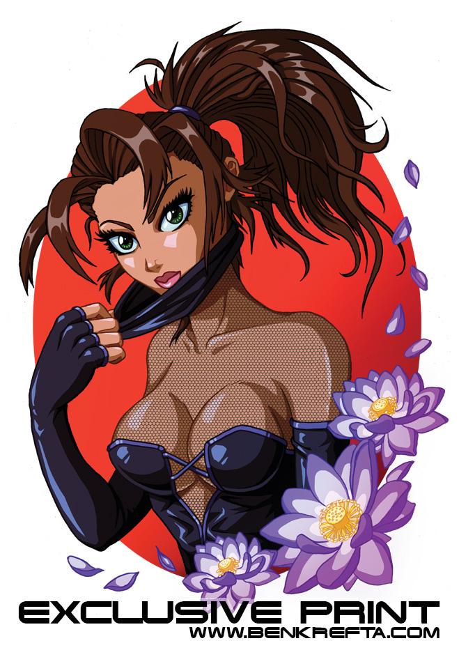 Manga Ninja Girl Print