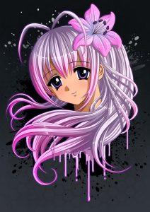 Anime Girl Portrait - Light Hair
