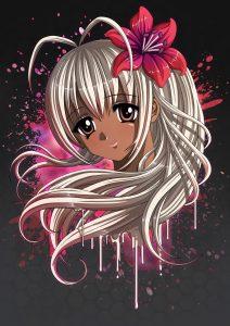Anime Girl Portrait - Dark Skin