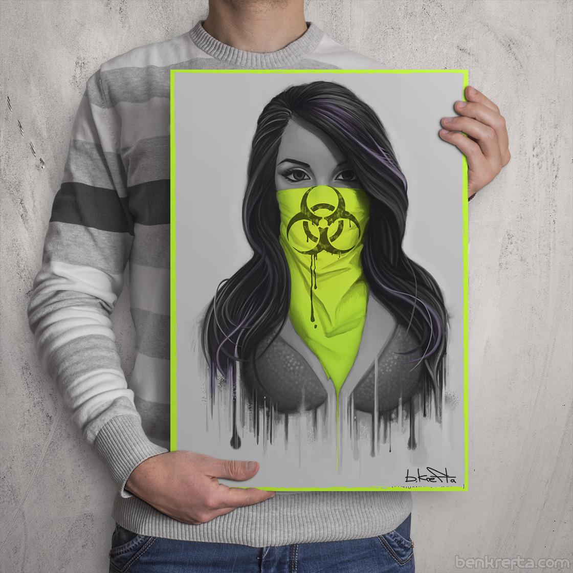 Masked Girl Print