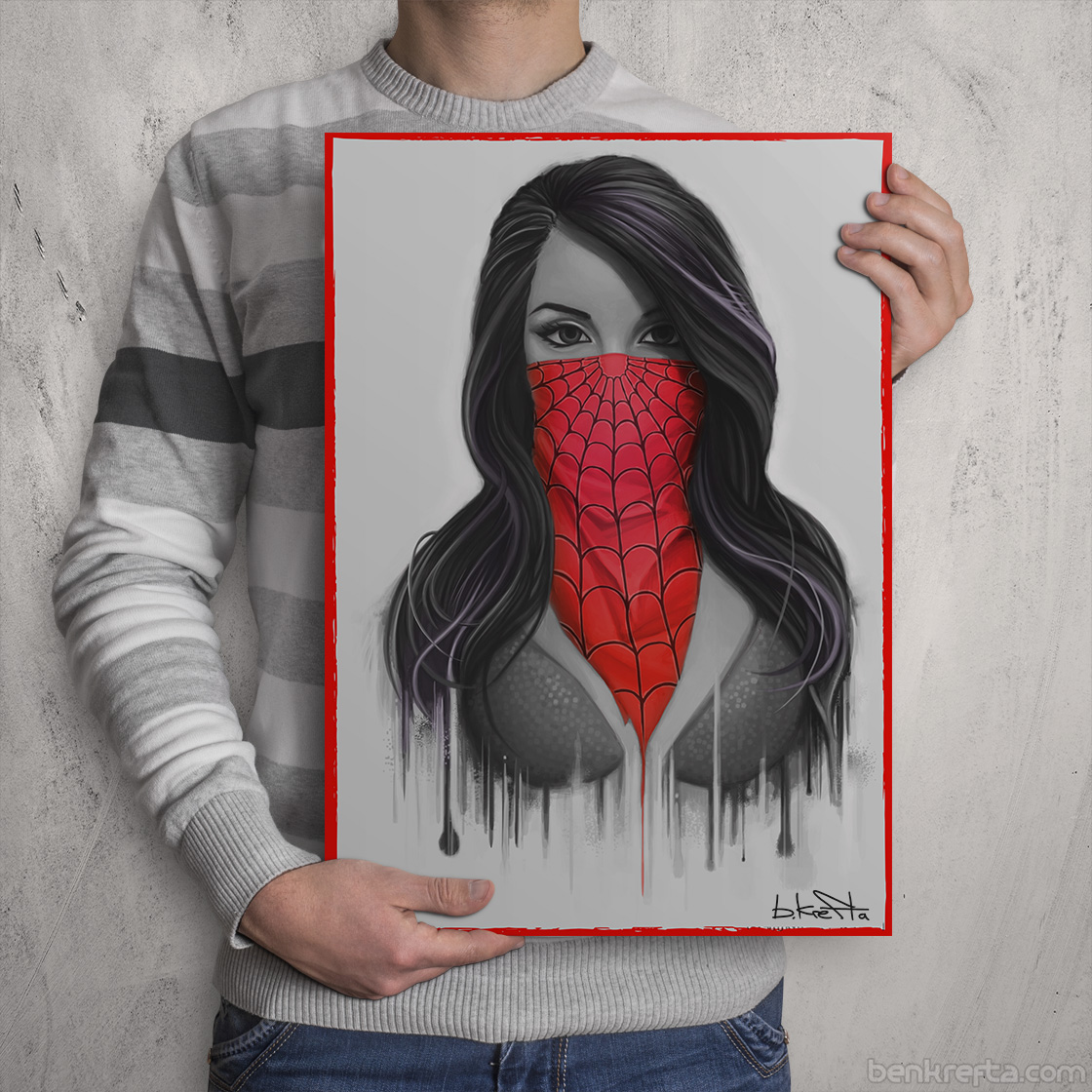 Spiderman Girl Print