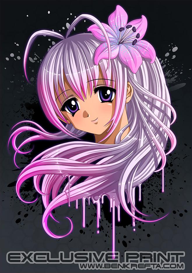 Cute Anime Girl Print