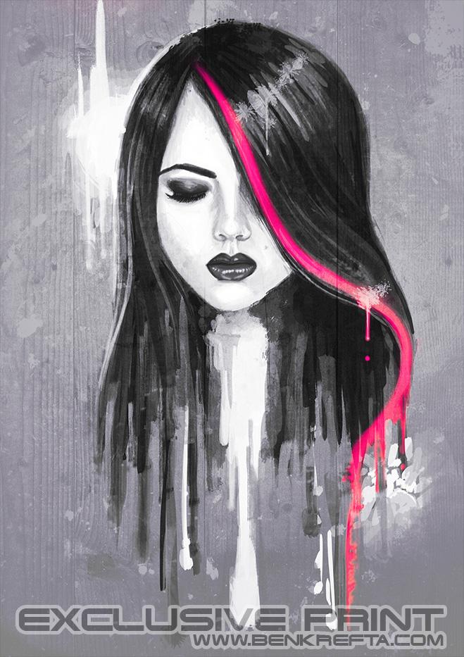 Girl Face Print