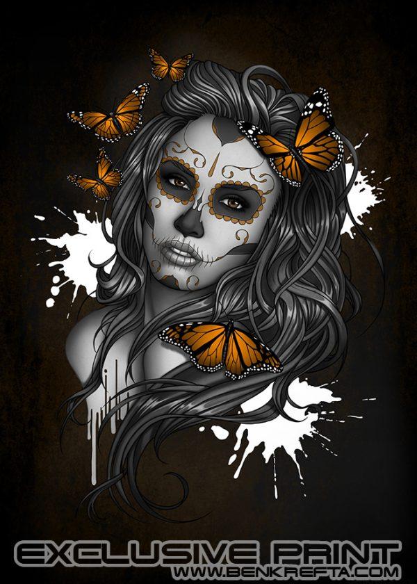 Sugarskull Girl Print