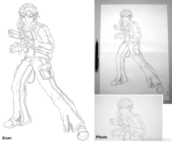 Anime guy art
