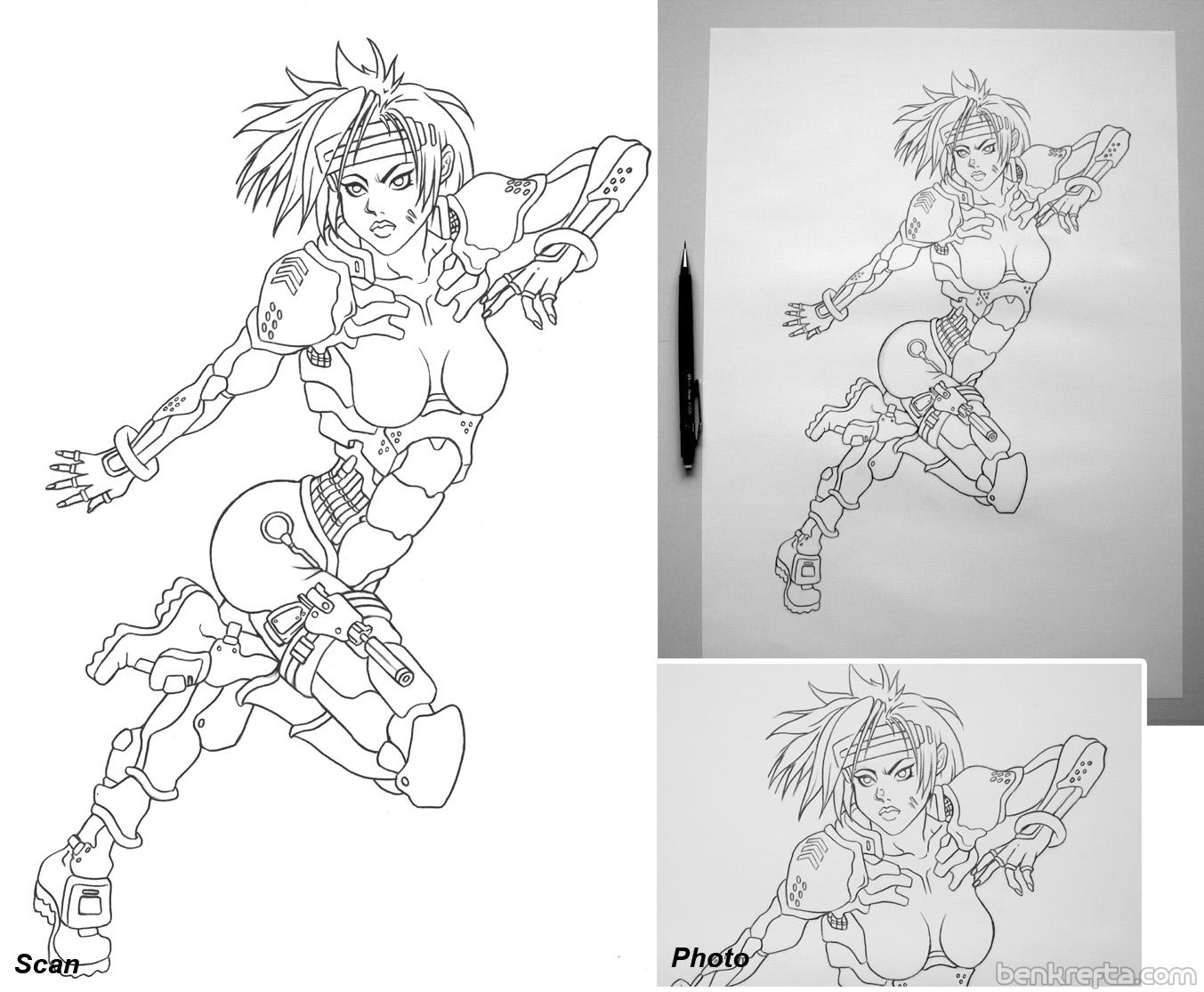 Cyber girl art