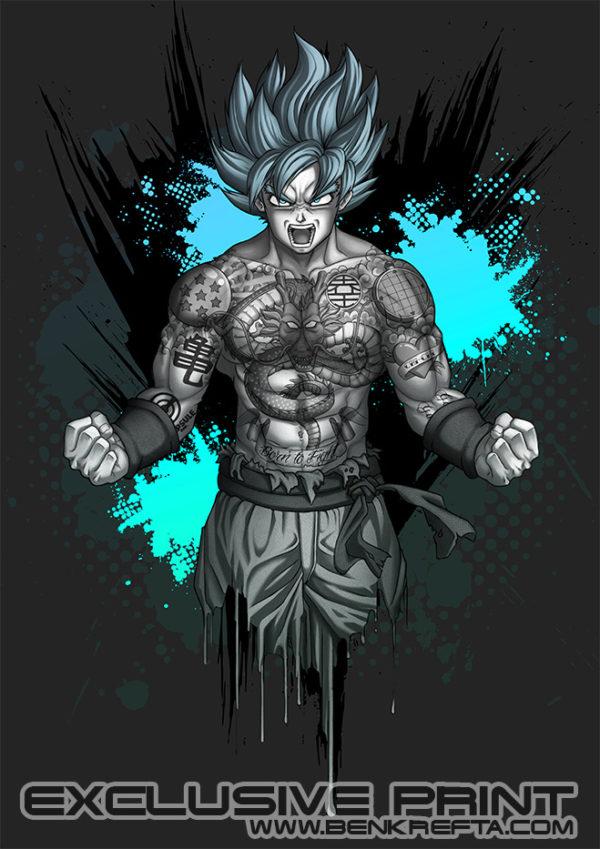 Tattooed Goku Print