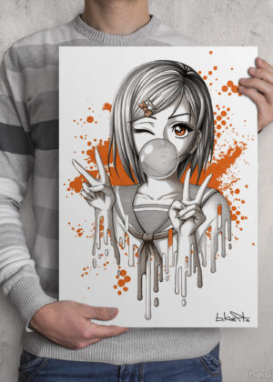 Bubblegum Girl Print