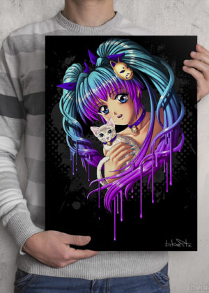 Kitty Girl Print