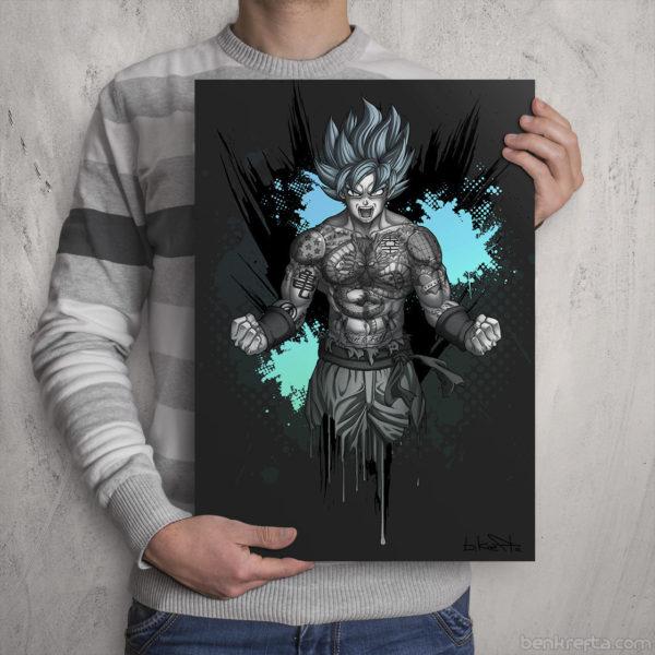 Goku Tattoo Print