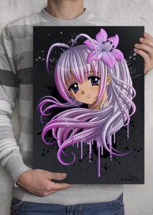 Kawaii Anime Girl Print