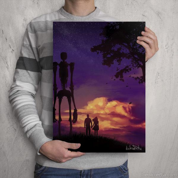 Scifi Sunset Print