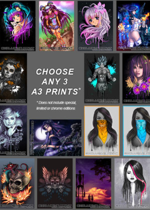 Any 3 A3 Art Prints