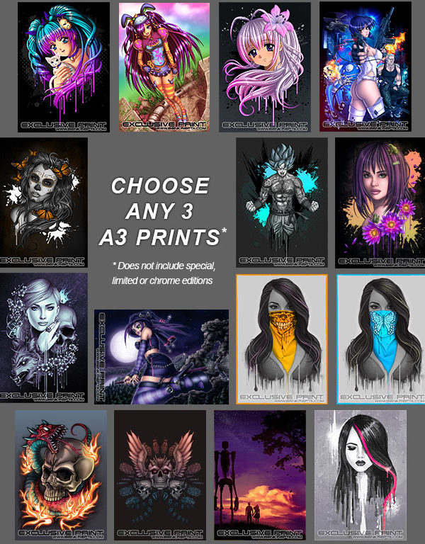 Any 3 A3 Art Prints