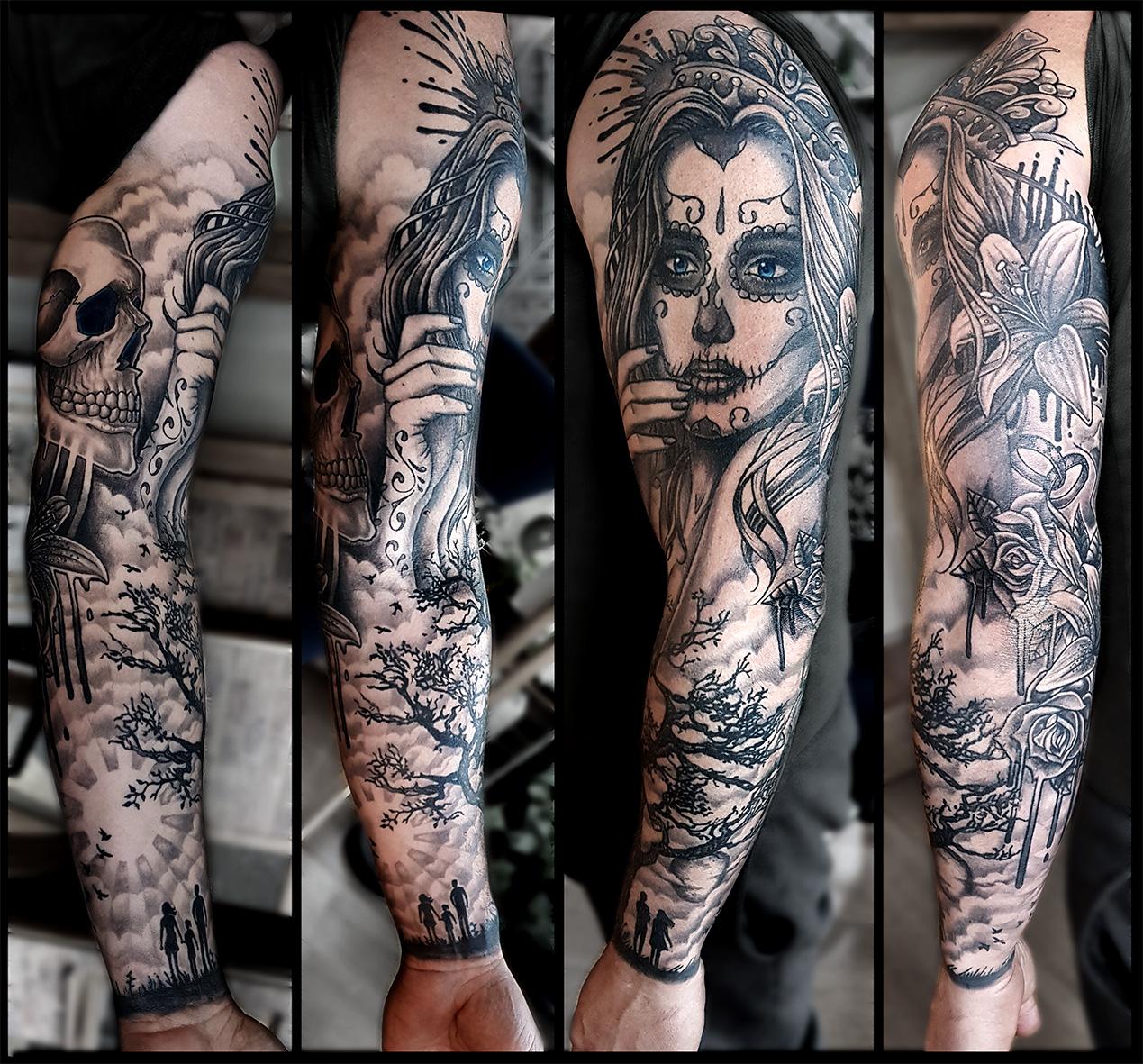 Sugar Skull Girl Tattoo Sleeve Tattoo Designs Ideas,Interior Design Light Green Living Room