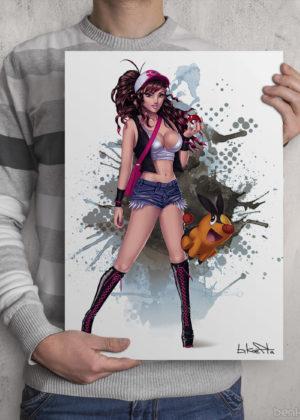 Pokemon Hilda Print