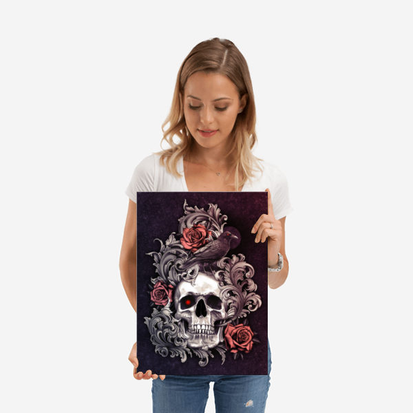 Skull Crow Print