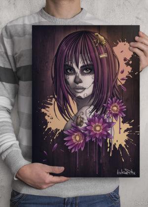 Sugar Skull Girl Print