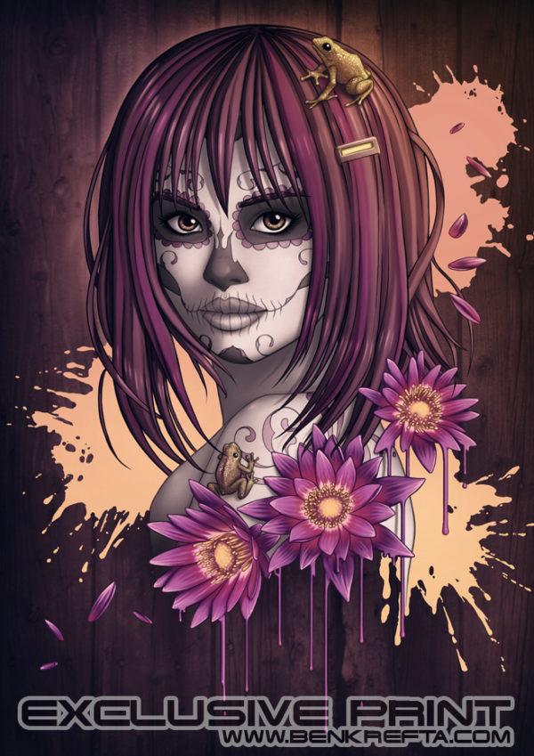 Candy Skull Girl Print