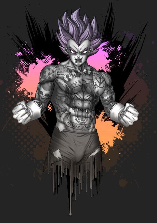 Tattooed Vegeta