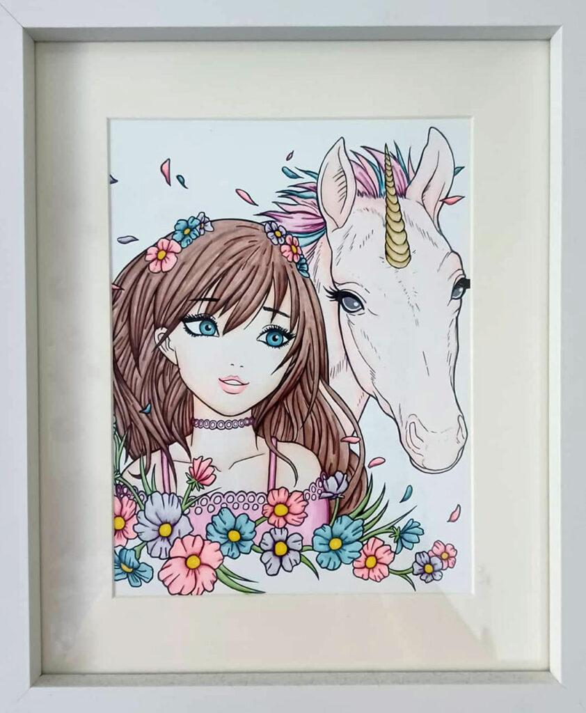 unicorn coloring 02