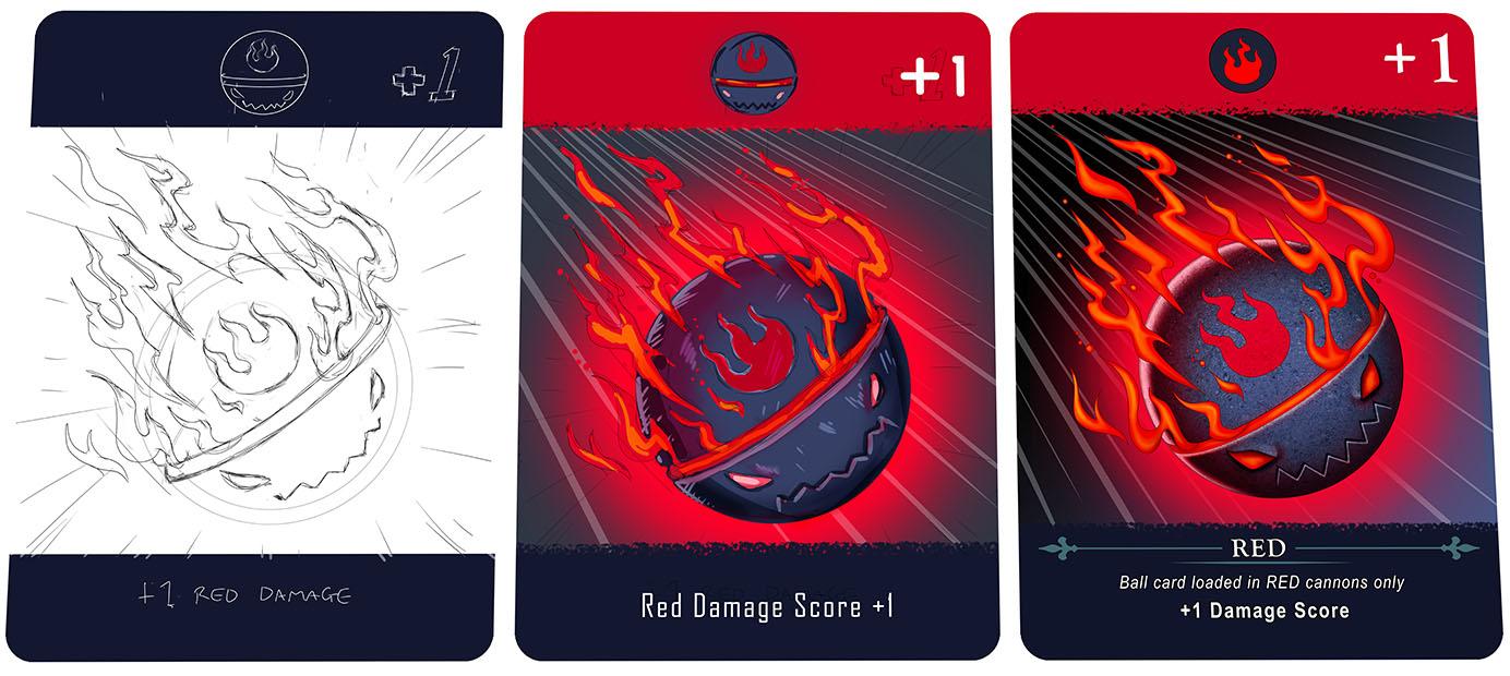 Card ball red development